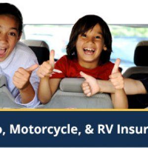 Auto, Motorcycle & RV Insurance